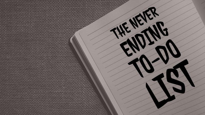 Chloe Rudd - The never ending to-do list blog post header